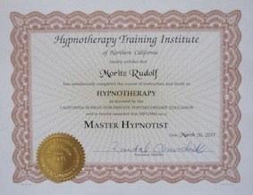 HTI Master Hypnotist Zertifikat