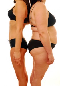 Abnehmen, Fat and thin woman, Fotolia.de