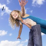 Flugangst, Young girl swirling feet in the air., Fotolia.de