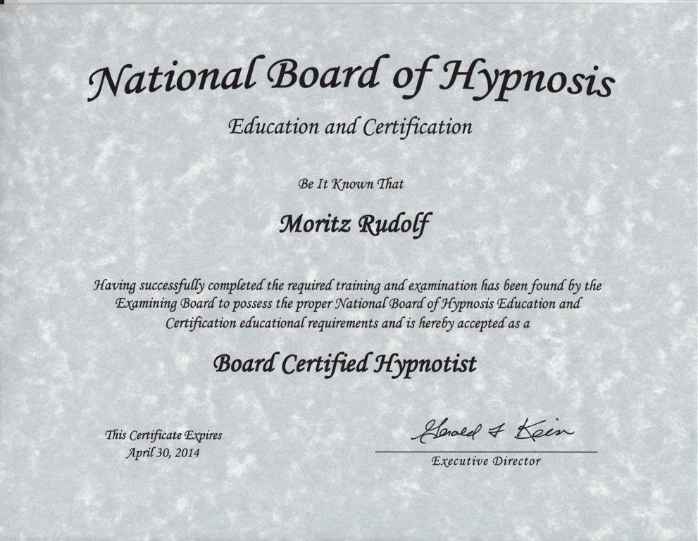 NBHEC Zertifikat Hypnose-Ausbildung